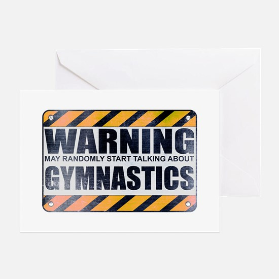 Warning: Gymnastics Greeting Card