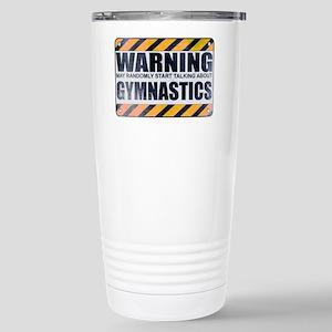 Warning: Gymnastics Ceramic Travel Mug