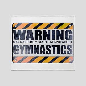 Warning: Gymnastics Stadium Blanket