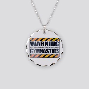 Warning: Gymnastics Necklace Circle Charm