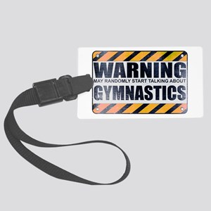 Warning: Gymnastics Large Luggage Tag