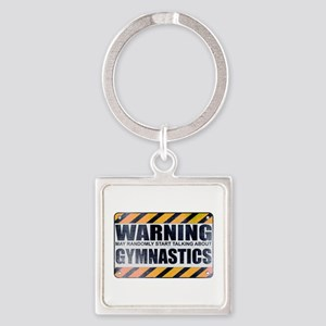 Warning: Gymnastics Square Keychain