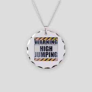 Warning: High Jumping Necklace Circle Charm