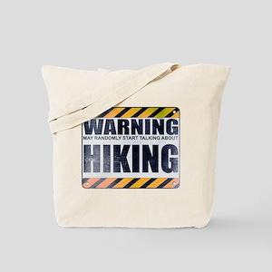Warning: Hiking Tote Bag