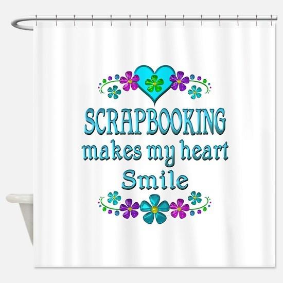 Scrapbooking Smiles Shower Curtain