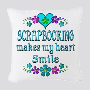 Scrapbooking Smiles Woven Throw Pillow
