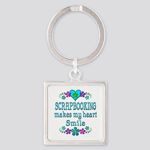 Scrapbooking Smiles Square Keychain