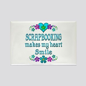 Scrapbooking Smiles Rectangle Magnet