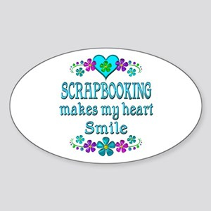 Scrapbooking Smiles Sticker (Oval)