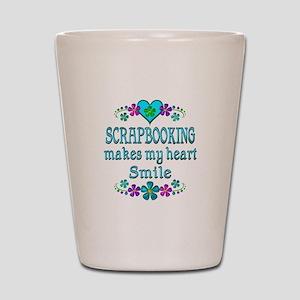 Scrapbooking Smiles Shot Glass