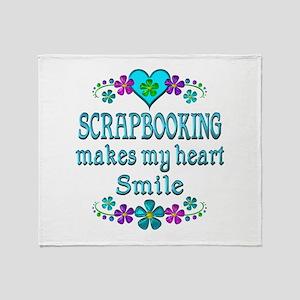 Scrapbooking Smiles Throw Blanket