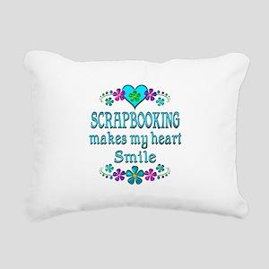 Scrapbooking Smiles Rectangular Canvas Pillow