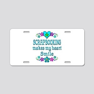 Scrapbooking Smiles Aluminum License Plate