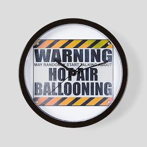 Warning: Hot Air Ballooning Wall Clock