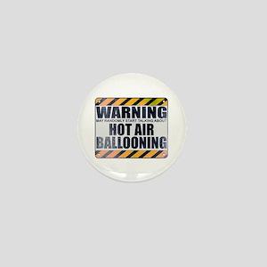 Warning: Hot Air Ballooning Mini Button