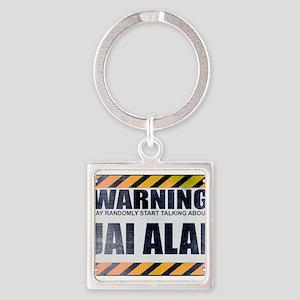 Warning: Jai Alai Square Keychain