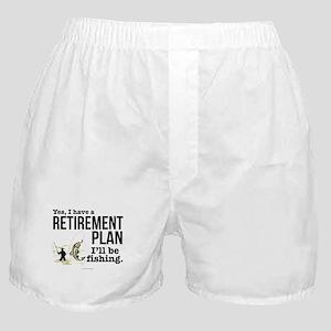 Fishing Retirement Plan Boxer Shorts