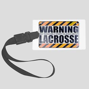 Warning: Lacrosse Large Luggage Tag