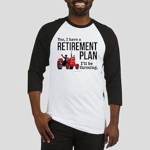 Farming Retirement Plan Baseball Jersey