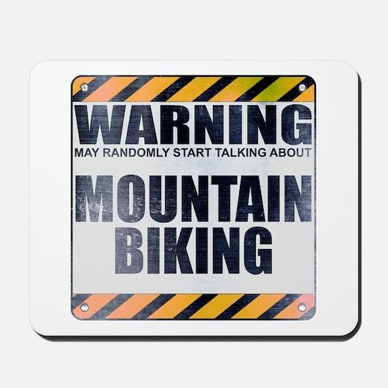Warning: Mountain Biking Mousepad