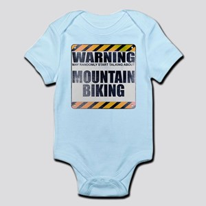 Warning: Mountain Biking Infant Bodysuit