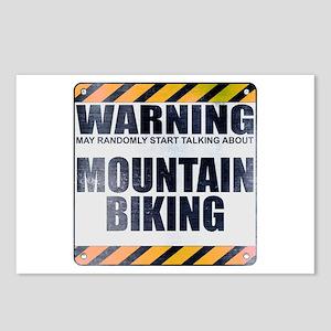 Warning: Mountain Biking Postcards (Package of 8)