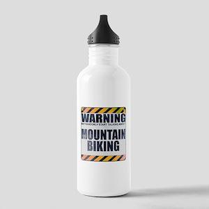 Warning: Mountain Biking Stainless Water Bottle 1.
