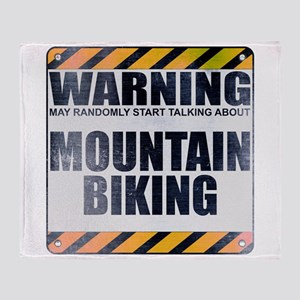 Warning: Mountain Biking Stadium Blanket