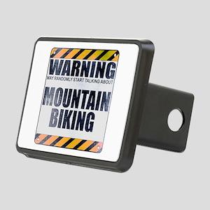 Warning: Mountain Biking Rectangular Hitch Cover