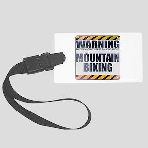 Warning: Mountain Biking Large Luggage Tag