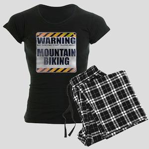 Warning: Mountain Biking Women's Dark Pajamas