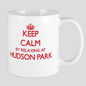 Keep calm by relaxing at Hudson Park New York Mugs