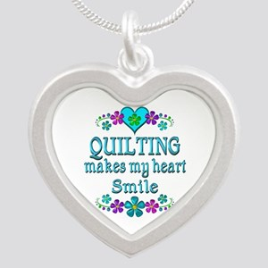 Quilting Smiles Silver Heart Necklace