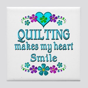 Quilting Smiles Tile Coaster