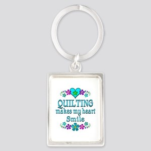 Quilting Smiles Portrait Keychain