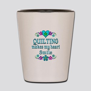 Quilting Smiles Shot Glass