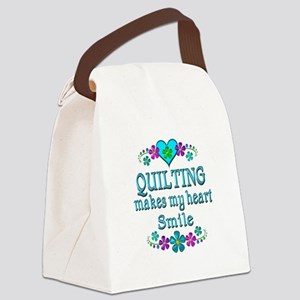 Quilting Smiles Canvas Lunch Bag