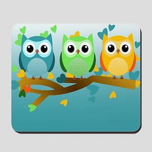 Owl Babies Mousepad