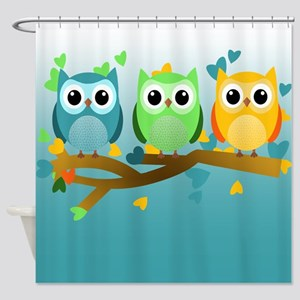 Owl Babies Shower Curtain