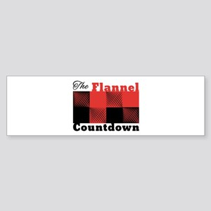 Flannel Countdown Bumper Sticker