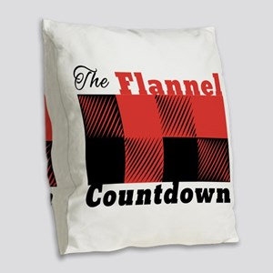 Flannel Countdown Burlap Throw Pillow