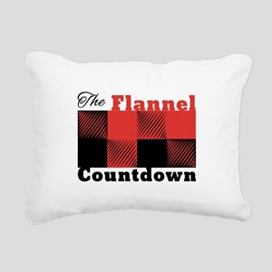 Flannel Countdown Rectangular Canvas Pillow