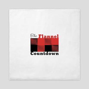 Flannel Countdown Queen Duvet