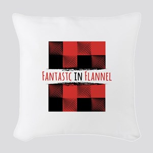 Fantastic Flannel Woven Throw Pillow