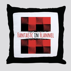 Fantastic Flannel Throw Pillow