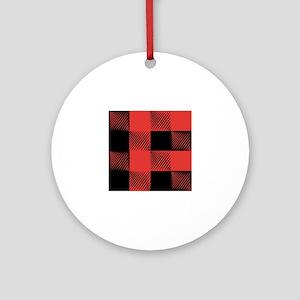 Plaid Pattern Round Ornament