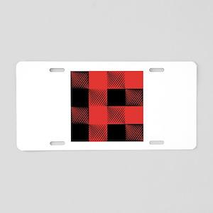 Plaid Pattern Aluminum License Plate