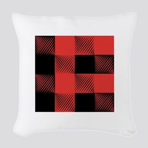 Plaid Pattern Woven Throw Pillow