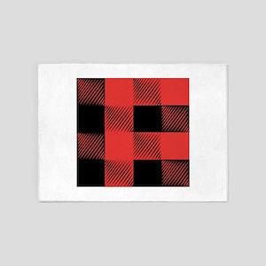 Plaid Pattern 5'x7'Area Rug