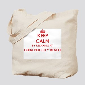 Keep calm by relaxing at Luna Pier City B Tote Bag